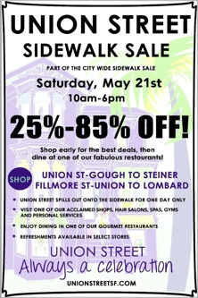 Union Street Sidewalk Sale 2016